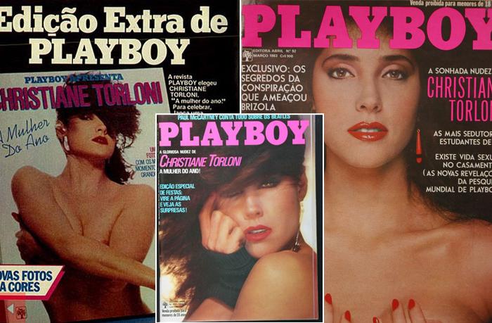 que Christiane Torloni já posou nua três vezes na Playboy? Confira