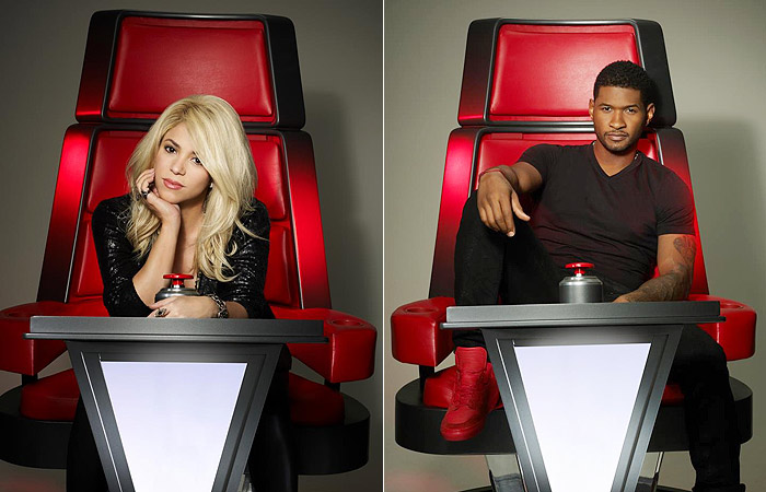 Shakira e Usher assumem cadeiras do The Voice nos Estados Unidos