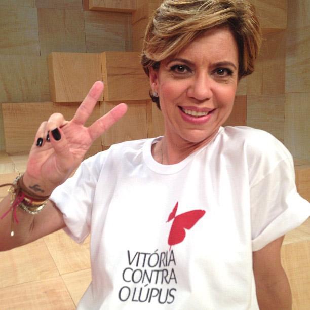 Astrid Fontenelle faz campanha no Dia Mundial do Lúpus