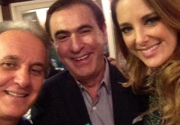 Otávio, Amauri Junior e Ticiane Pinheiro.