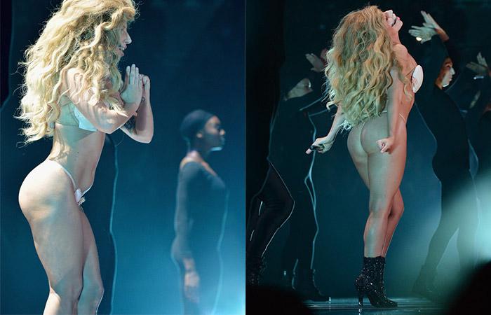 af933b931 Lady Gaga aparece de fio dental no VMA - Bem Paraná