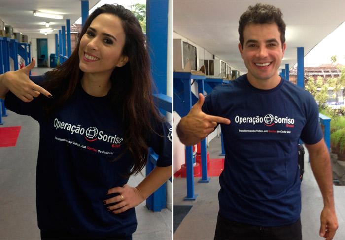 Tatá Werneck e Anderson Di Rizzi apoiam campanha Operação Sorriso