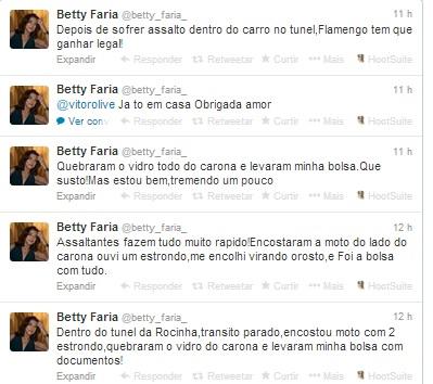 Betty Faria é assaltada dentro de carro no Rio de Janeiro