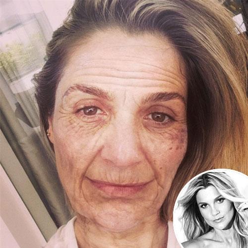Uma linda senhora! Flávia Alessandra mostra como ela estará em 2054