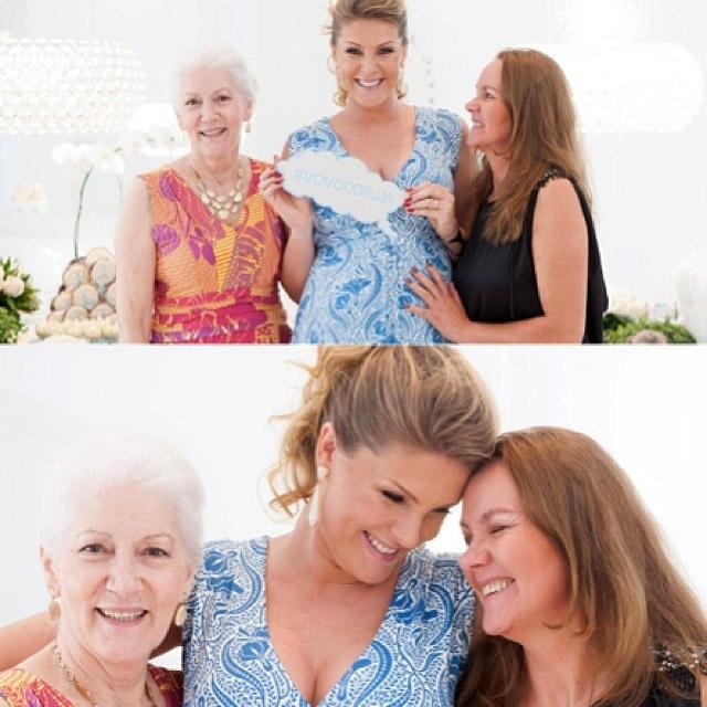 """Ana Hickmann posa com mãe e sogra: """"Vovós corujas"""""""
