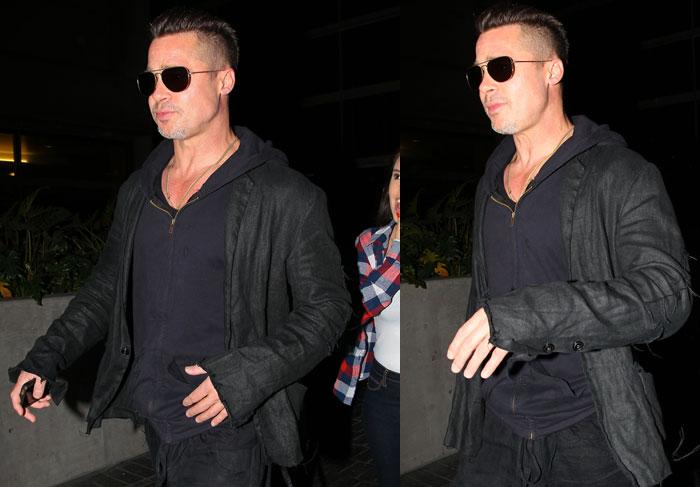 Brad Pitt radicaliza e adota cabelo moicano