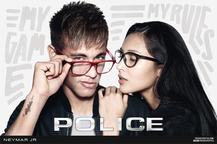 Neymar estrela campanha da grife de óculos Police