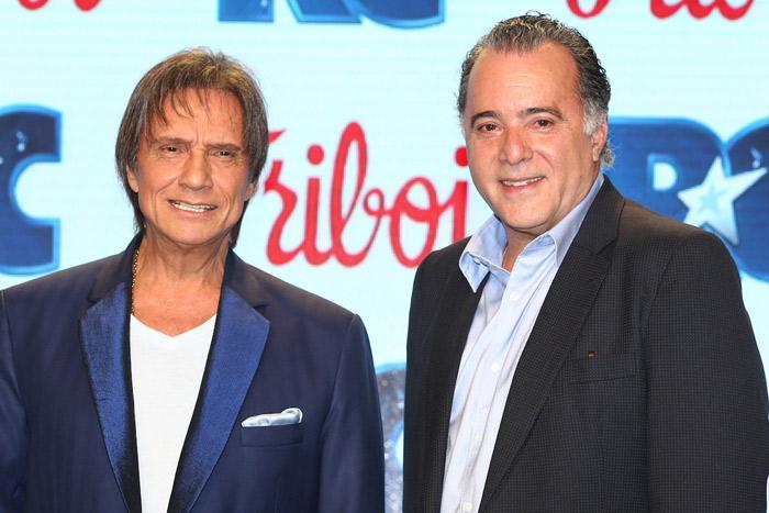 Tony Ramos e Roberto Carlos se unem em evento paulista