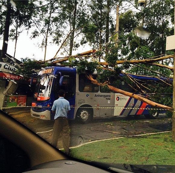 Wanessa se livra de acidente durante forte chuva, em SP