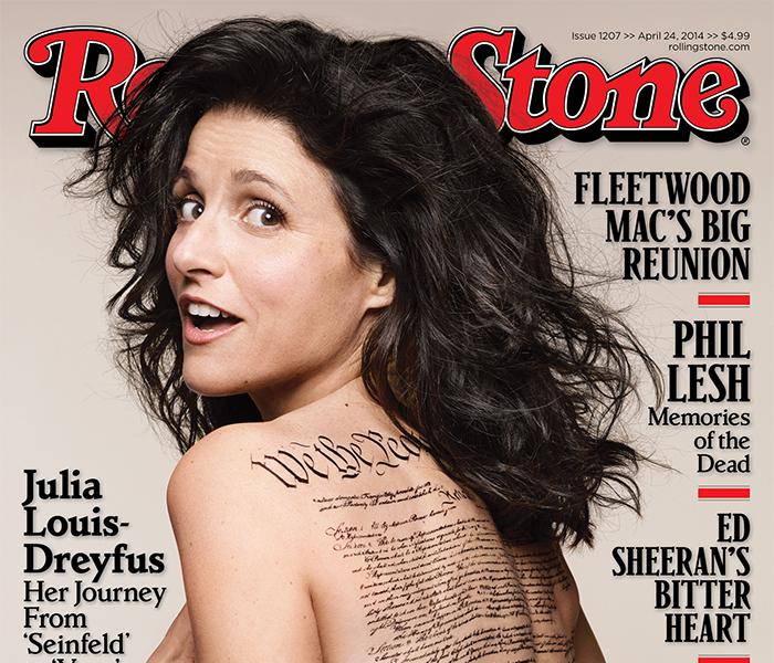 Nua, Julia Louis-Dreyfus clica capa ousada para revista | Ofuxico