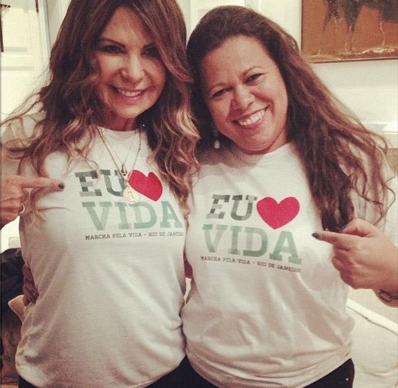 Elba Ramalho faz campanha a favor da Marcha pela Vida
