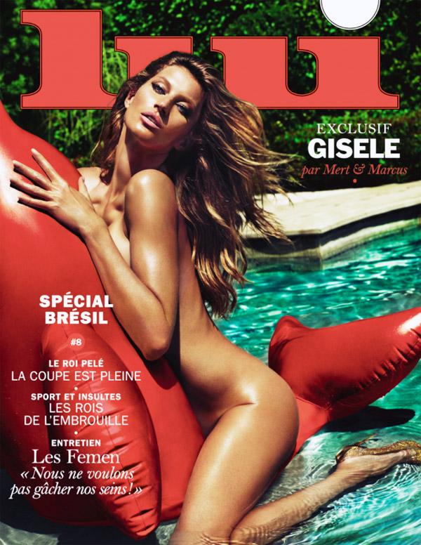 Gisele Bündchen é a nova capa da revista francesa Lui