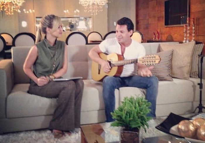Eliana grava com Eduardo Costa