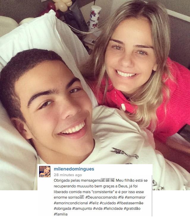 Ronald, filho de Milene e Ronaldo, passa bem após cirurgia