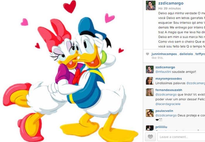 Zezé di Camargo escreve declaração de Dia dos Namorados para a amada