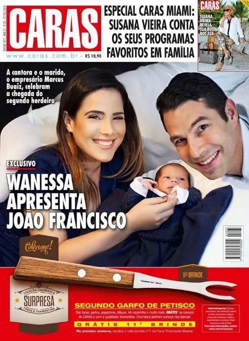 Wanessa cantou durante o parto de José Francisco