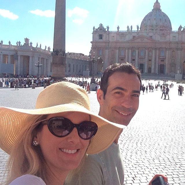 Ticiane Pinheiro e César Tralli fazem viagem romântica à Roma