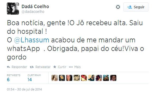 Jô Soares tem alta hospitalar