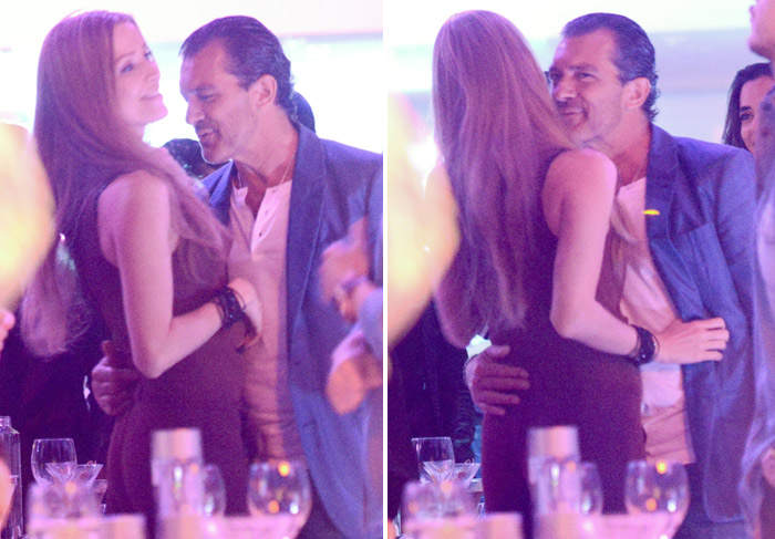 Antonio Banderas flerta com mulher misteriosa em St. Tropez