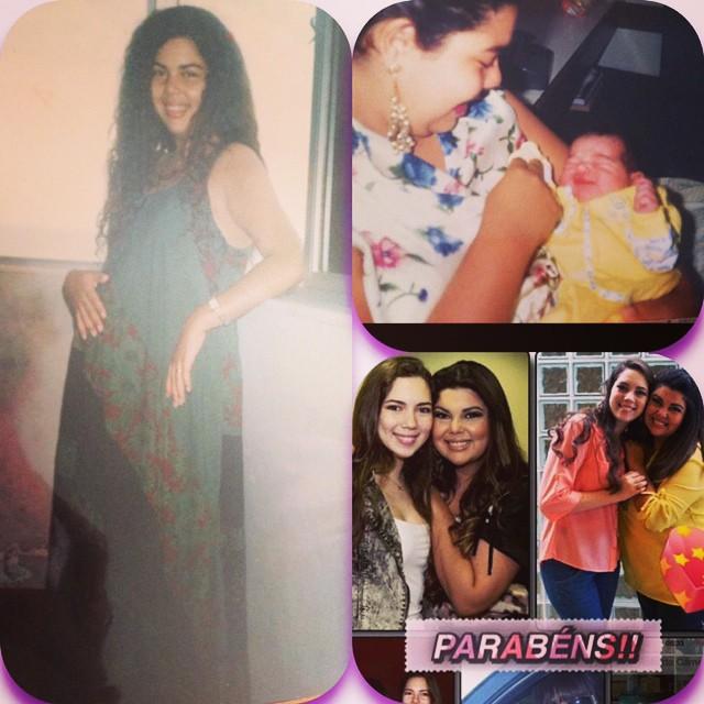 Fabiana Karla dá os parabéns à filha