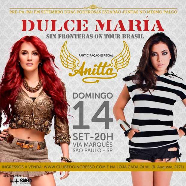 Anitta cancela participação em show de Dulce Maria
