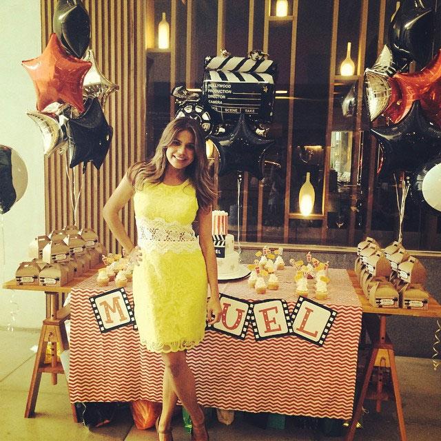 Nívea Stelmann faz festa com tema de cinema para comemorar o aniversário do filho