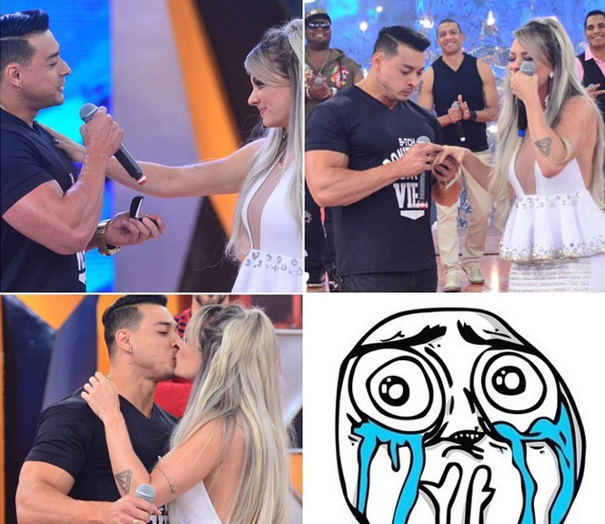 Felipe Franco pede Juju Salimeni em casamento