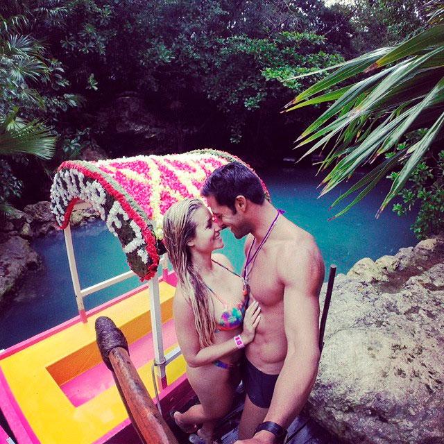 Aryane Steinkopf e Beto Malfacini fazem passeio romântico em Cancun