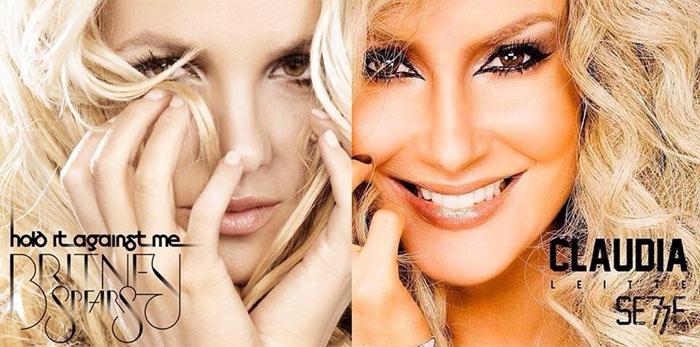 Claudia Leitte é acusada de copiar capa de disco de Britney Spears