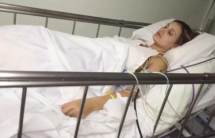 Fotos de Andressa Urach ainda no hospital são divulgadas