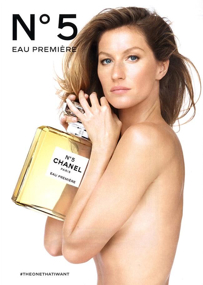 Gisele Bündchen posa de topless para o Chanel Nº5
