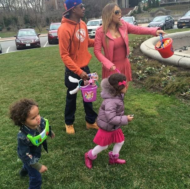 Mariah Carey e Nick Cannon passaram o domingo de Páscoa juntos