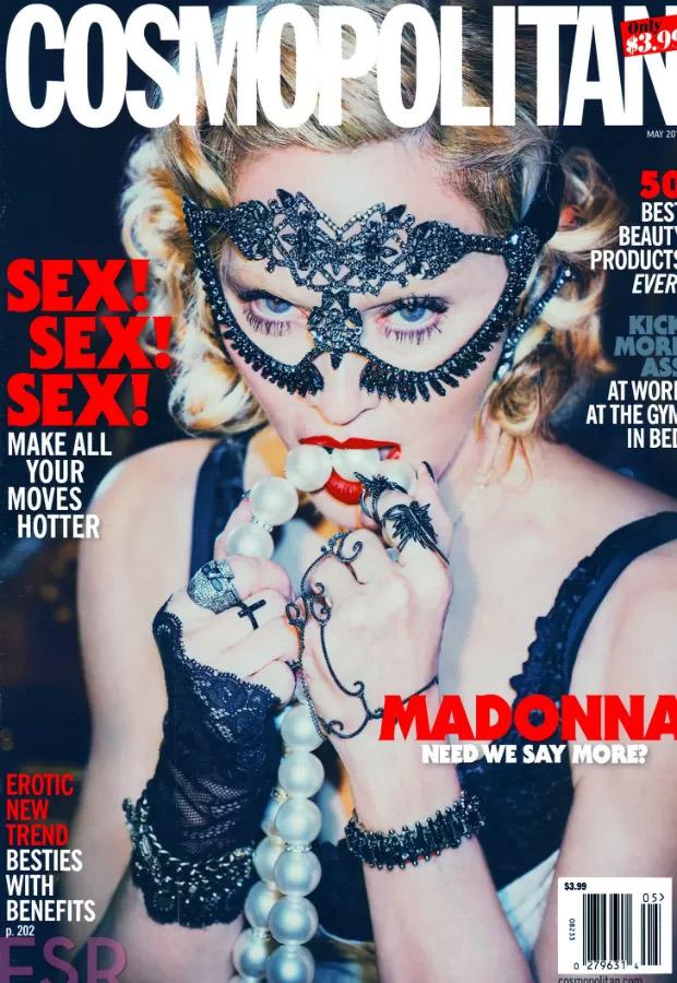 Madonna posa cheia se sensualidade para revista americana