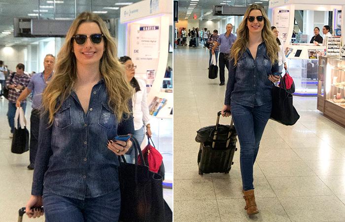 Danielle  Winits embarca no Rio de Janeiro