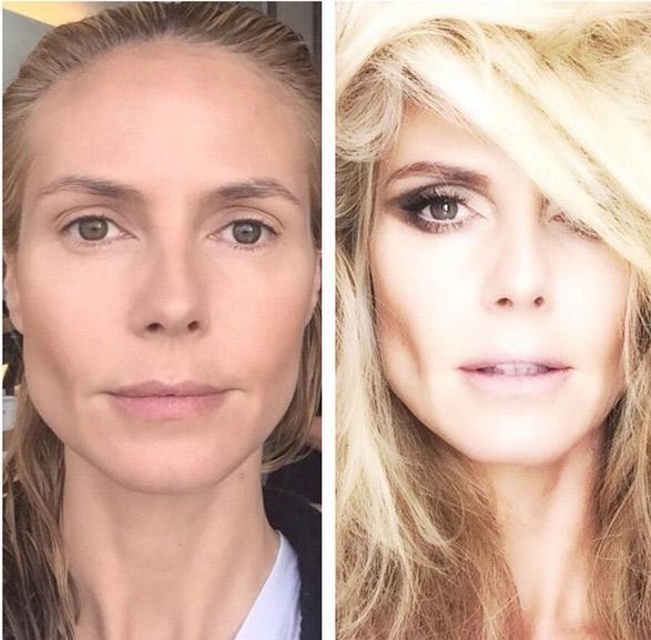 Transformação! Heidi Klum surpreende fãs com antes e depois de superprodução
