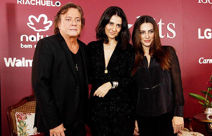Com vários projetos juntos, Cléo Pires e Fábio Jr. mostram sintonia em evento