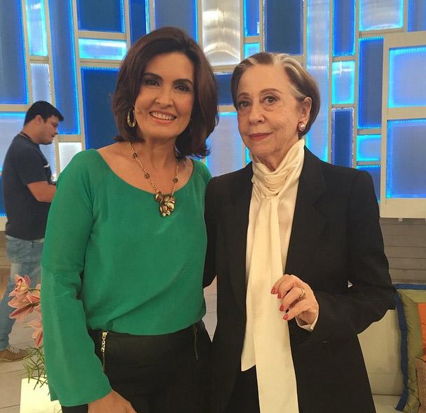 Fátima Bernardes grava participação em Babilônia com Fernanda Montenegro