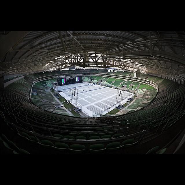 Veja fotos dos ensaios para o show de Roberto Carlos na Arena Palmeiras