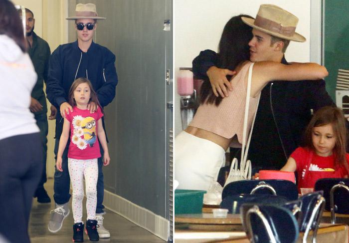 Justin Bieber é clicado com Kendall Jenner e Hailey Baldwin, seus dois últimos affairs