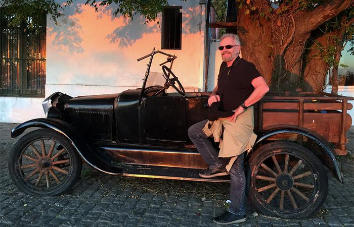 Henri Pagnoncelli curte momentos no Uruguai com a esposa