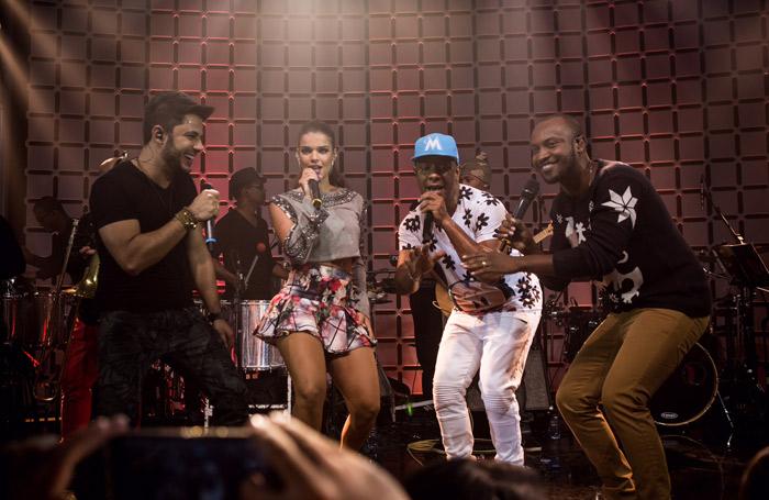 Cristiano Araújo, Mari Antunes e Psirico se encontram no Música Boa ao Vivo
