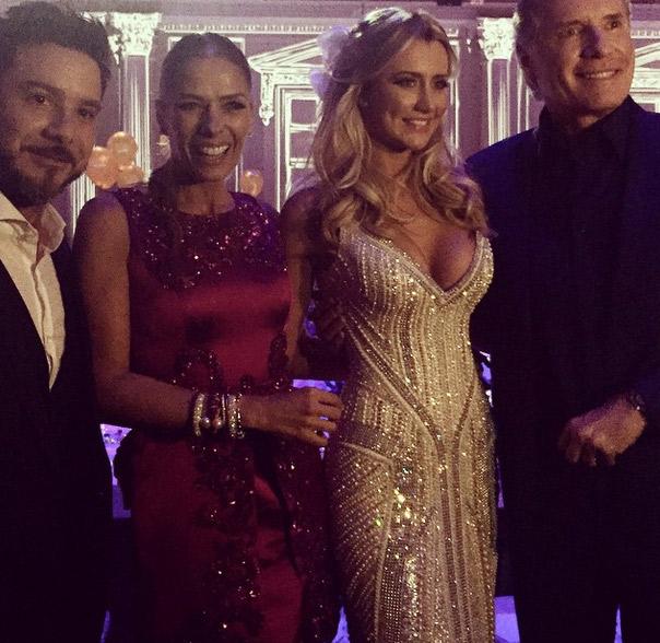 Adriane Galisteu felicita o ex Roberto Justus pelo casamento com Ana Paula Siebert