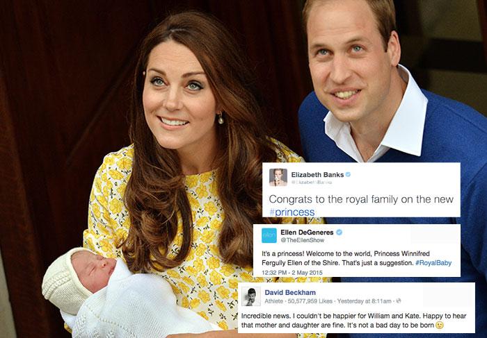 Benvinda! Celebridades festejam o nascimento da nova princesinha