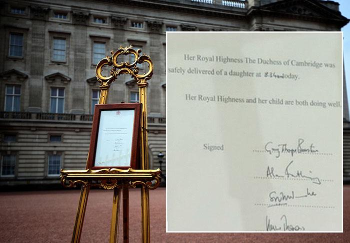 Bebê real: O anuncio oficial do nascimento da princesinha