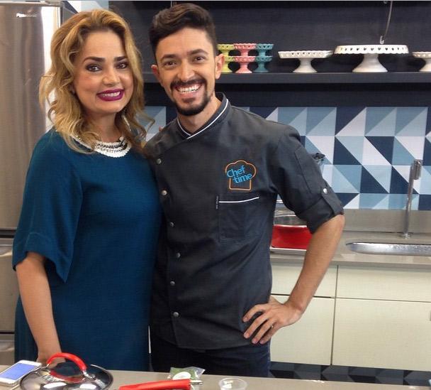 Nani Venâncio recebe chef Hugo Godinho em seu programa