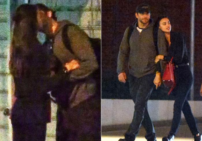 Bradley Cooper e Irina Shayk são vistos aos beijos em Nova York