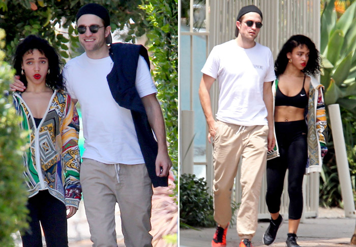 Robert Pattinson e FKA Twigs se divertem durante trajeto para academia