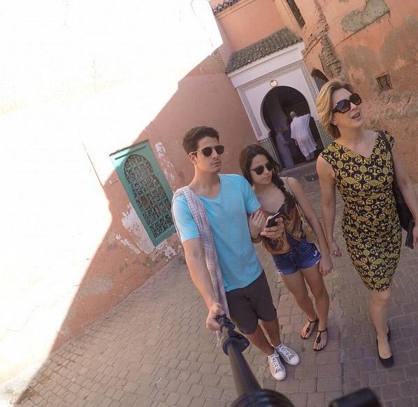 Depois de desfazer as malas, Claudia Raia curte Marrakech