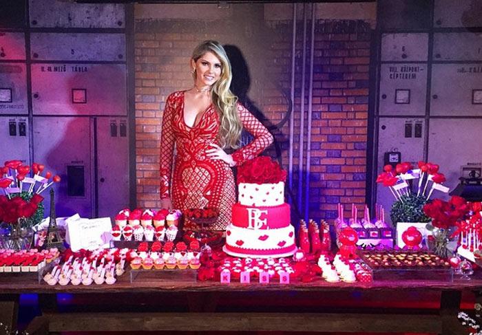 Bárbara Evans ganhou uma festa caprichada para celebrar a chegada de