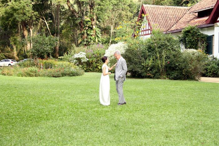 Pedro Bial e Maria Prata se casam em Petropólis